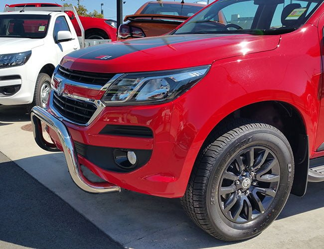 Holden trailblazer 2016 2018 stainless steel nudge bar park sensor holden trailblazer stainless steel nudge bar1 mozeypictures Images