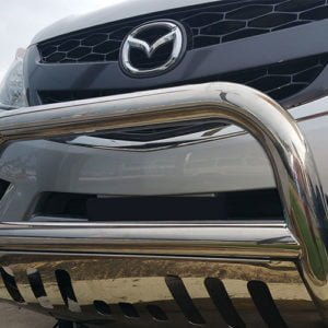 Mazda-BT50-2012---2016-stainless-steel-nudge-bar-with-stone-guard