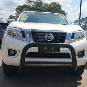 Nissan-Navara-NP300-Black-steel-nudge-bar